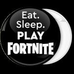 Κονκάρδα Fortnite eat sleep play μαύρη