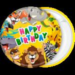 Κονκάρδα παιδικού πάρτυ ζώα της ζουγκλας Happy Birthday