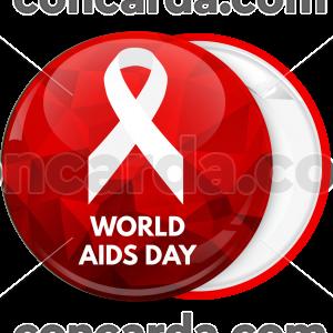 Κονκάρδα classic red ribbon World Aids Day κόκκινη