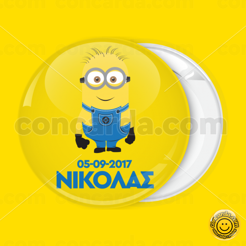 fb3a215ca71 Minion classic with date pin badge button
