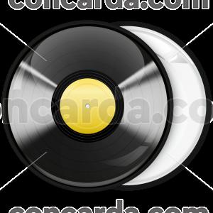 Κονκάρδα βινύλιο μαύρο