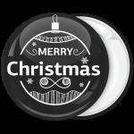 Black and white wish κονκάρδα Χριστουγέννων