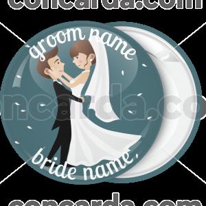 Κονκάρδα γάμου Romantic couple green