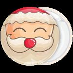 Κόκκινη Κονκάρδα Χριστουγέννων Santa face