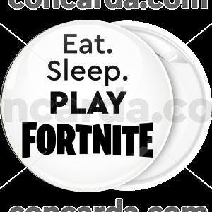 Κονκάρδα Fortnite eat sleep play λευκή