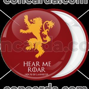 Κονκάρδα Game of Thrones Hear me Roar κόκκινη