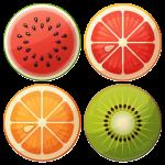 Καλοκαιρινές κονκάρδες φρούτα 4 τεμάχια