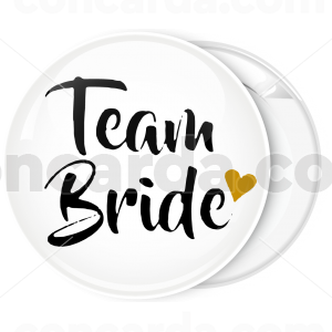 Kονκάρδα λευκή Team Bride χρυσή καρδιά