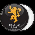 Κονκάρδα Game of Thrones Hear me Roar μαύρη
