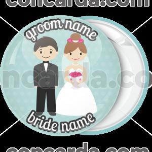 Κονκάρδα γάμου happy couple