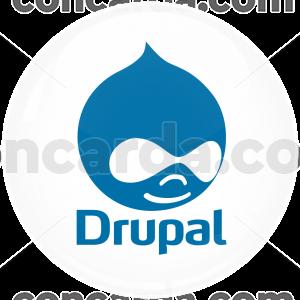 Κονκάρδα Drupal λευκή