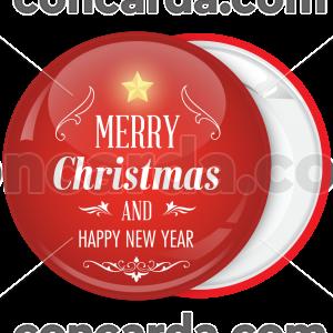 Κονκάρδα Merry Christmas star