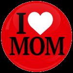 Κονκάρδα I Love Mom κόκκινη
