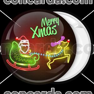 Κονκάρδα Merry Xmas neon colors