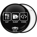 Κονκάρδα Eat Sleep Code Geek life