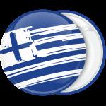 Κονκάρδα Ελληνική σημαία σε πλάγιο σχέδιο μπλέ