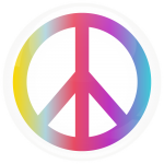 Κονκάρδα σήμα της ειρήνης χρωματιστό