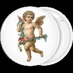Κονκάρδα άγγελος με λουλούδια περπάτημα