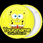 Κονκάρδα βάπτισης Μπομπ Σφουγγαράκης Smile κίτρινη