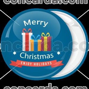 Χριστουγεννιάτικη κονκάρδα Enjoy Holidays with presents