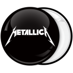 Metallica music heavy metal band badge