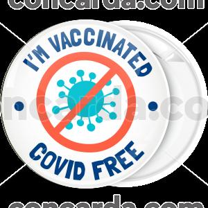 Κονκάρδα I am vaccinated covid free
