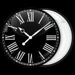 Κονκάρδα ρολόι μαύρο