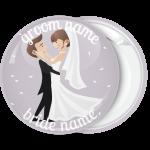 Κονκάρδα γάμου Romantic couple purple