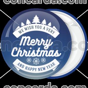 Κονκάρδα Merry Christmas sky blue