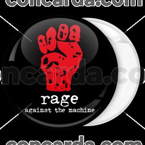 Κονκάρδα Rage Against the Machine μαύρη