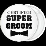 Κονκάρδα Certified super groom  λευκή