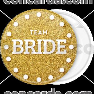 Kονκάρδα Team Bride dots χρυσή καρδιά
