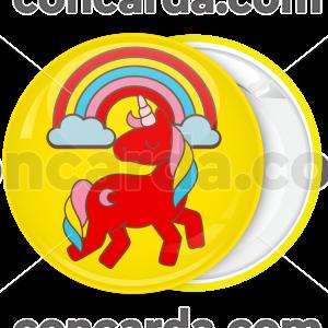 Κίτρινη Kονκάρδα βάπτισης και παιδικού party Μονόκερος ουράνιο τόξο
