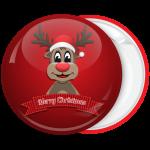 Κονκάρδα Merry Christmas χαρούμενο ταρανδάκι