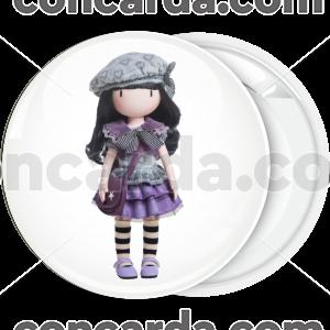 Κονκάρδα Santoro μωβ γκρι φόρεμα