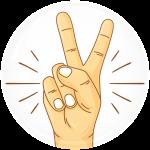 Κονκάρδα Peace Fingers