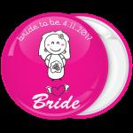 Κονκάρδα γάμου Bride Cartoon ροζ