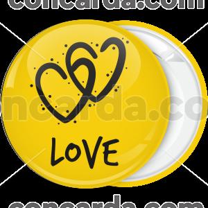 Κονκάρδα Αγίου Βαλαντίνου Love κίτρινη