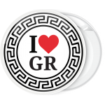 Κονκάρδα Ι Love GR Circle Ornament
