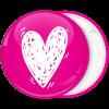 Κονκάρδα καρδιά λευκό ροζ