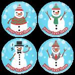 Χριστουγεννιάτικες κονκάρδες χιονάθρωποι party time