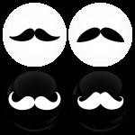 Κονκάρδα μουστάκι σετ 4 τεμάχια