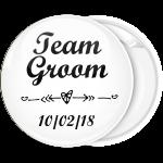 Κονκάρδα Team Groom καρδιά λευκή