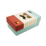 Συσκευασία κονκάρδα ορθογώνιο κουτι mustache μπλε κόκκινο