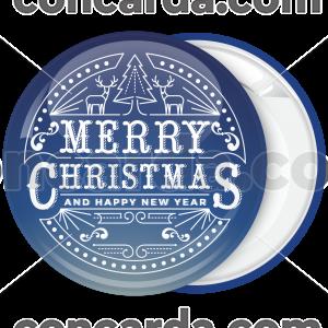 Κονκάρδα Merry Christmas lights blue