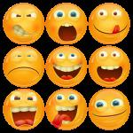Κονκάρδες emoticons avatar collection 3d 9 τεμάχια