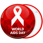 Κονκάρδα classic red ribbon World Aids Day κόκκινη
