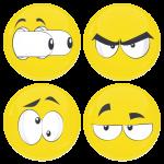 Kονκάρδες emoticons eyes out κίτρινες σετ 4 τεμάχια