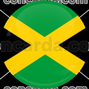 Κονκάρδα σημαία Τζαμάικα