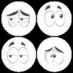 Kονκάρδες emoticons crack λευκές σετ 4 τεμάχια